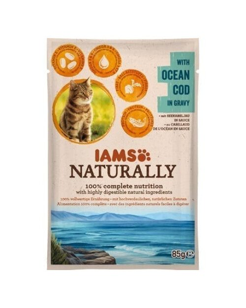 Iams Naturally - oceanski bakalar u umaku 85g