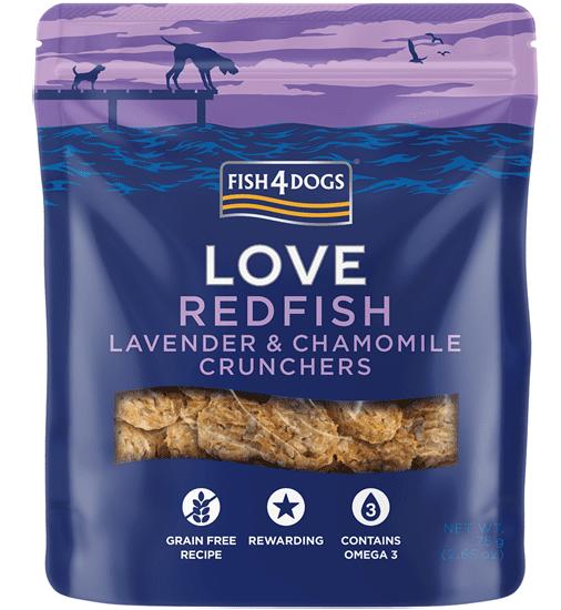 Fish4Dogs poslastice za pse - Redfish&Lavander crunchies 75g