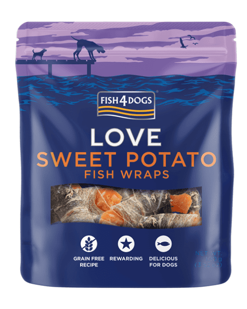 Fish4Dogs LOVE Wraps poslastice, batat 100g