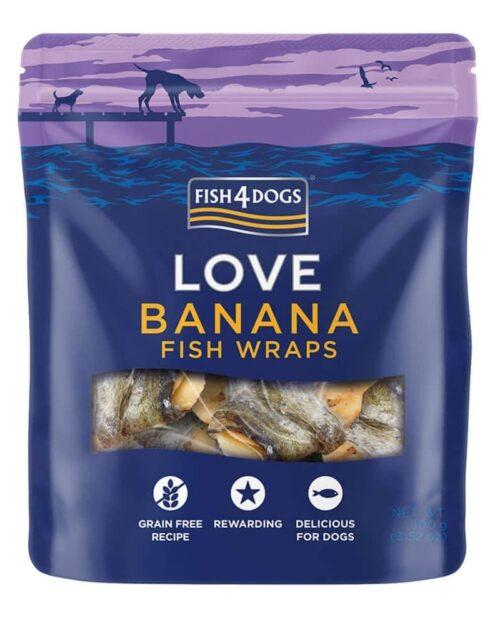 Fish4Dogs LOVE Wraps poslastice, banana 100g