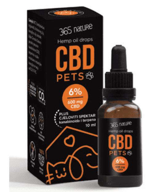 365 nature CBD Pets 6%, ulje konoplje, 10ml