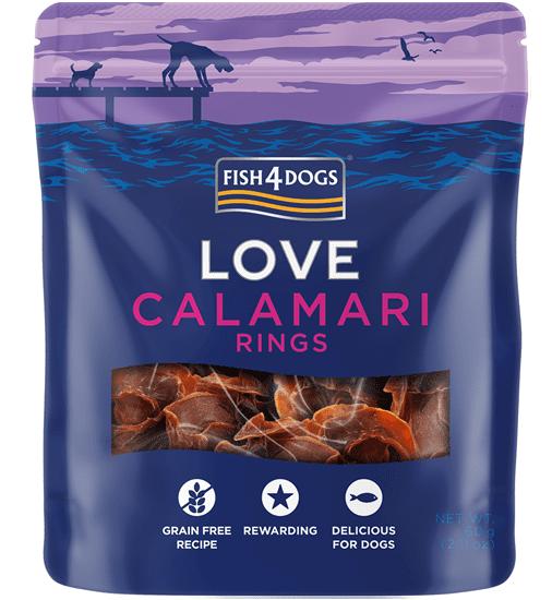 Fish4Dogs Love - Calamari rings poslastice