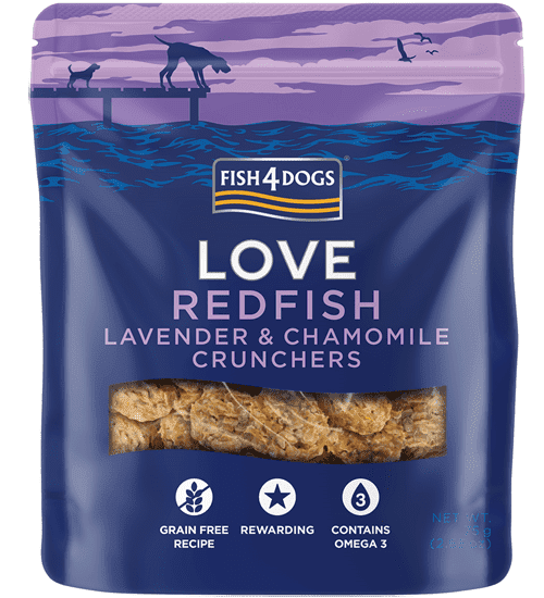 Fish4Dogs LOVE - Redfish Lavander poslastice