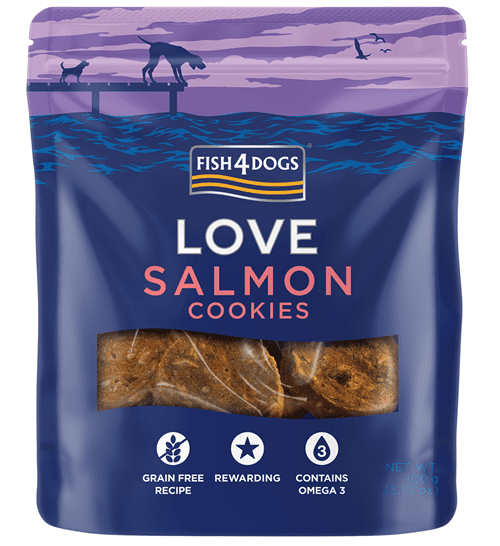 Fish4Dogs LOVE poslastice - Salmon cookies