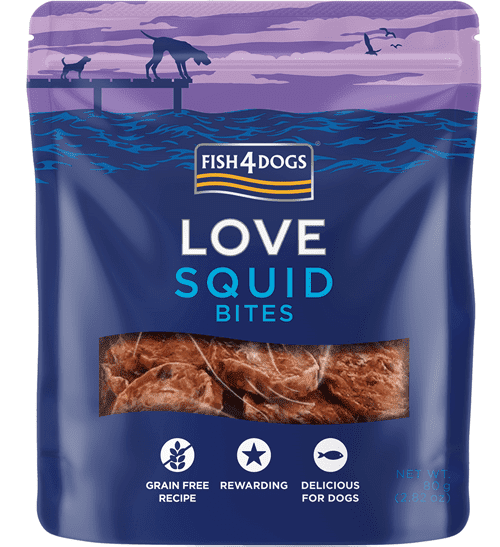Fish4Dogs Love - Squid bites poslastice