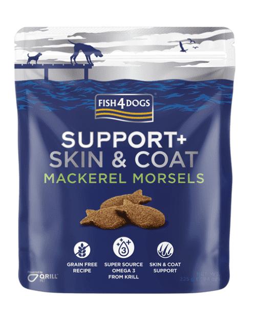 Fish4Dogs Support+ poslastice - Skin&Coat Mackerel morsels 225g