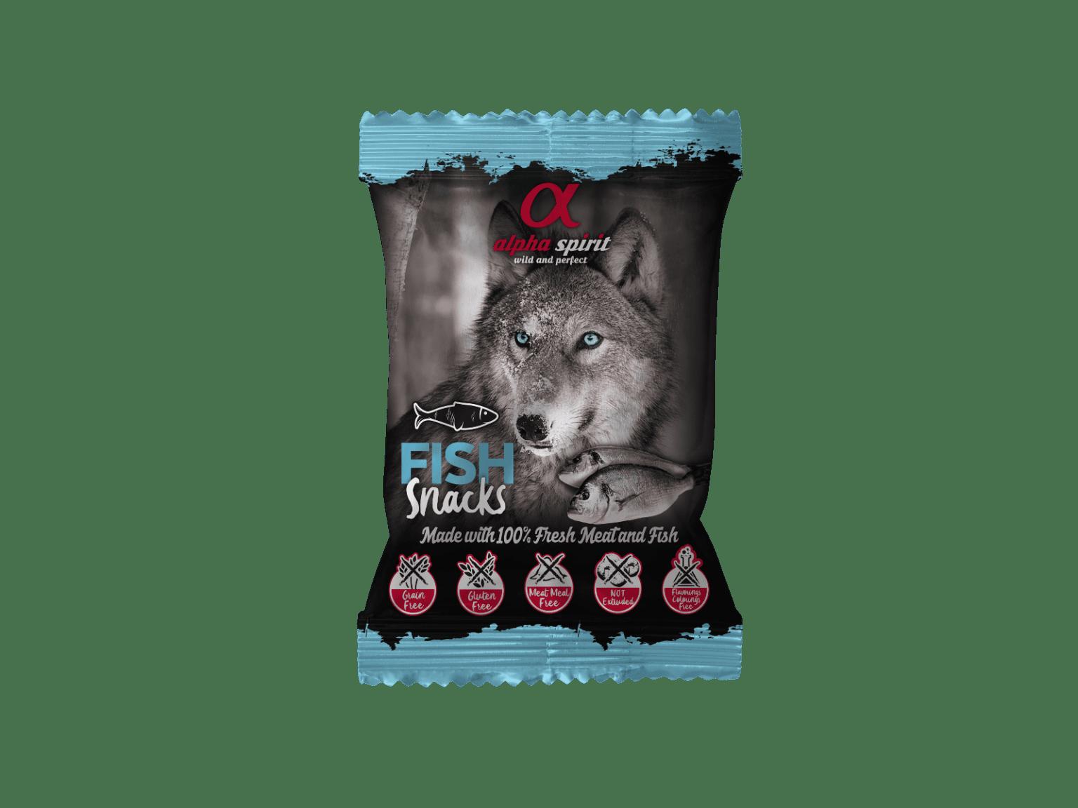 Alpha Spirit poslastice za pse, kockice - 50g-riba