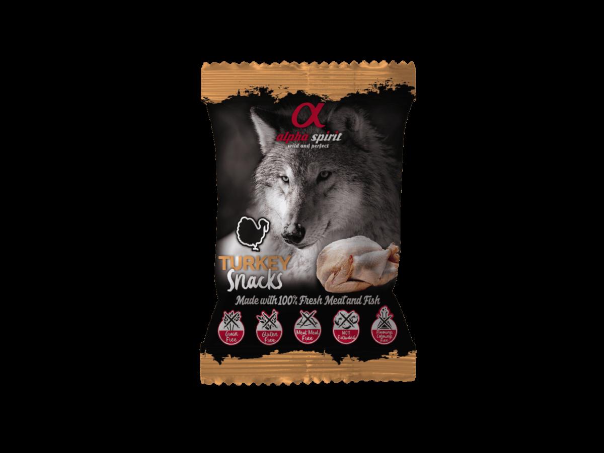 Alpha Spirit poslastice za pse, kockice - 50g-puretina