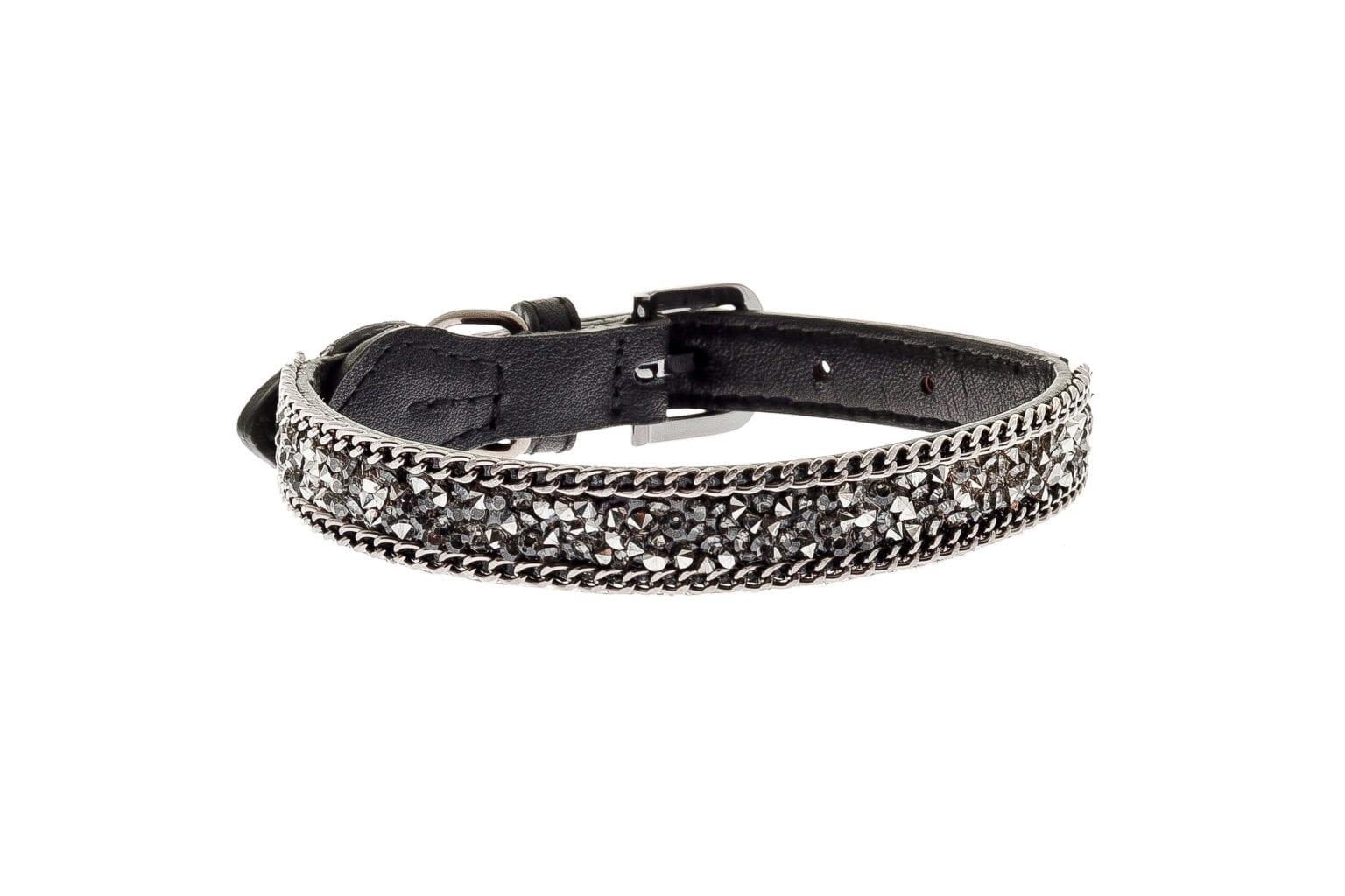 Kožna ogrlica za pse Brilli 32cm - 37cm