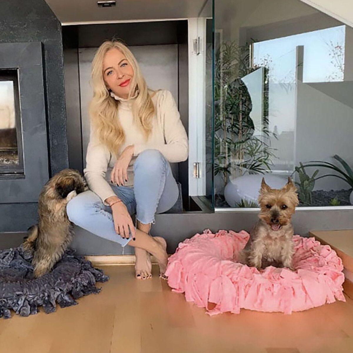Jastučić Princess rozi XS sa psima